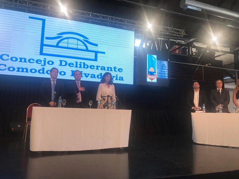 El intendente de Comodoro y precandidato a gobernador por el PJ, Carlos Linares, inauguró este lunes el 47° Período de Sesiones Ordinarias del Concejo Deliberante