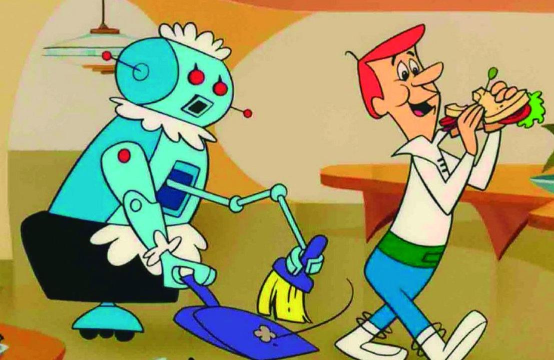 Robotina es la asistente robótica ideada por Hanna Barbera para Los Supersónicos, la serie animada creada en 1962 que mostraba la vida de una familia -Los Sónico- en en el año 2062, donde vivían en casas suspendidas en el aire mediante enormes soportes, se transportan en aeroautos, y leían diarios en las pantallas del televisor.