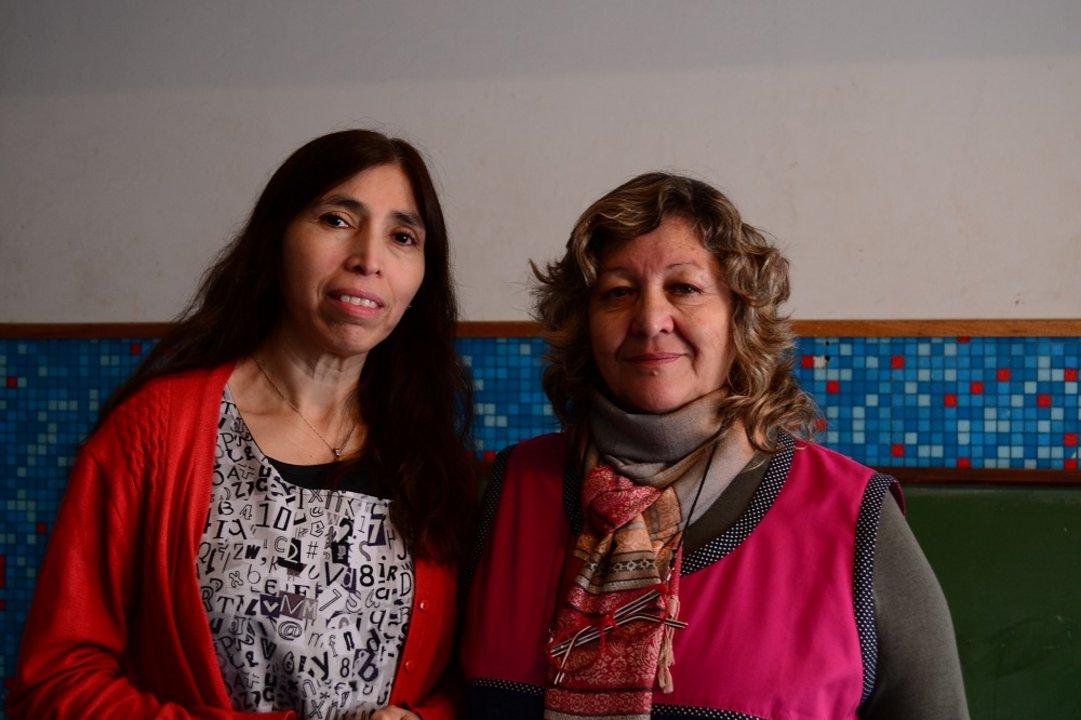 Gladys Pozaz y Mirta Guzmán.