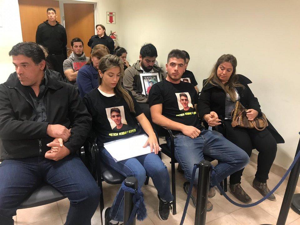 La familia de Brian, presente en la audiencia. Foto: ADNSUR