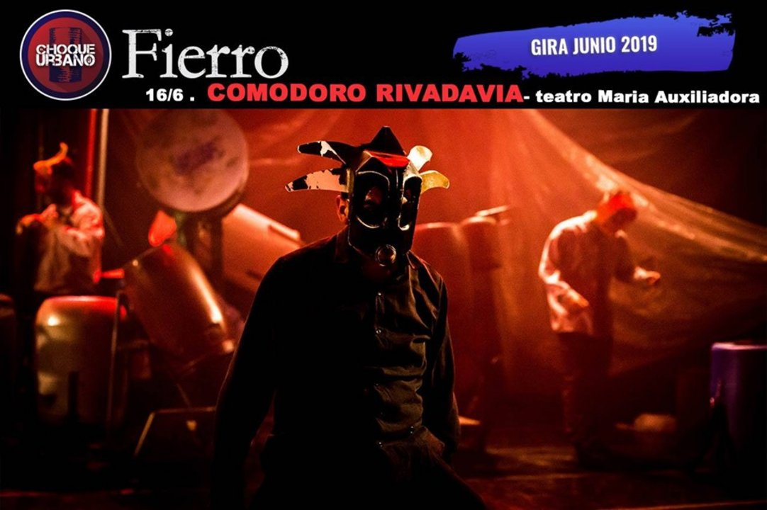 """Choque Urbano presenta """"Fierro"""" en Comodoro"""