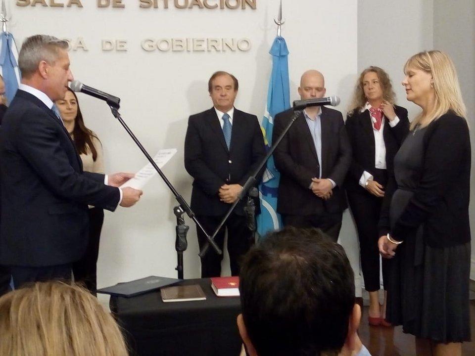 La nueva subsecretaria de Información Pública, Vanesa Abril.