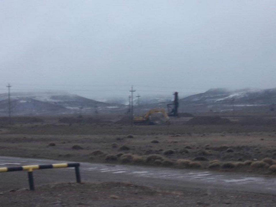 Así está la zona de Cerro Dragón, cubierta de nieve.