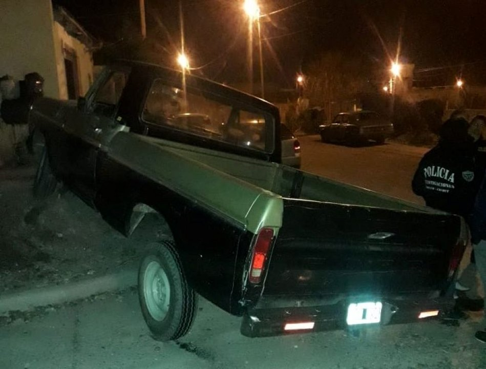 La camioneta robada. Foto: Radio 3