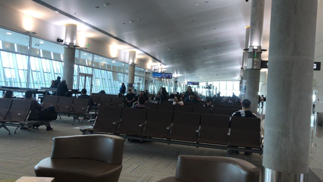 Así se encuentra Aeroparque este viernes. Foto: ADNSUR