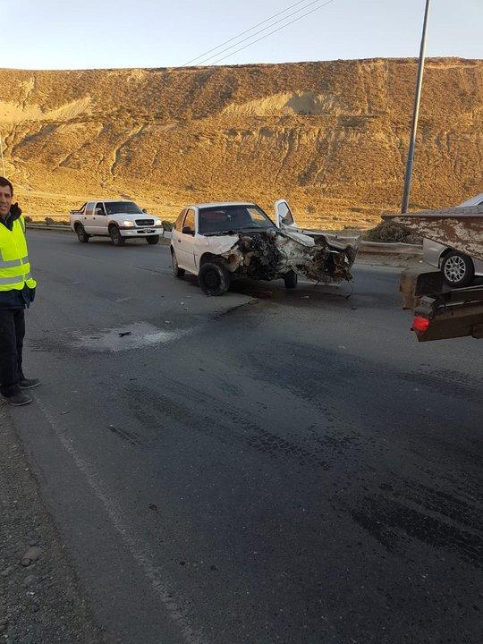 El choque en el camino Centenario. Foto: ADNSUR