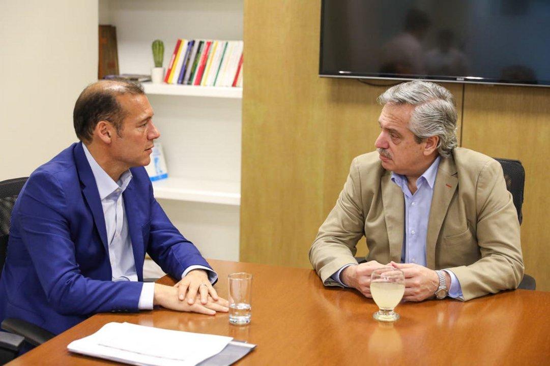 El Presidente electo con el gobernador de Neuquén.