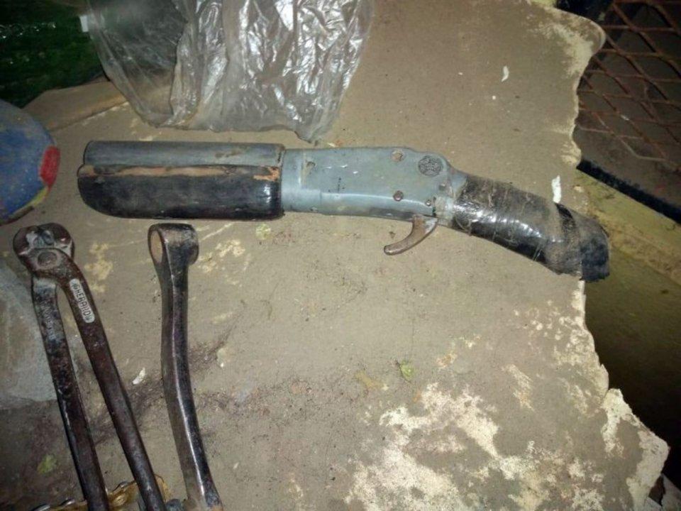 Secuestraron armas de fabricación casera. Foto: Diario Crónica