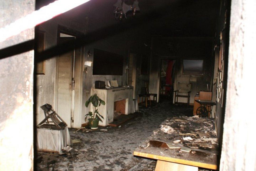 Fotografía del incendio que se produjo el 23 de marzo de 2010.