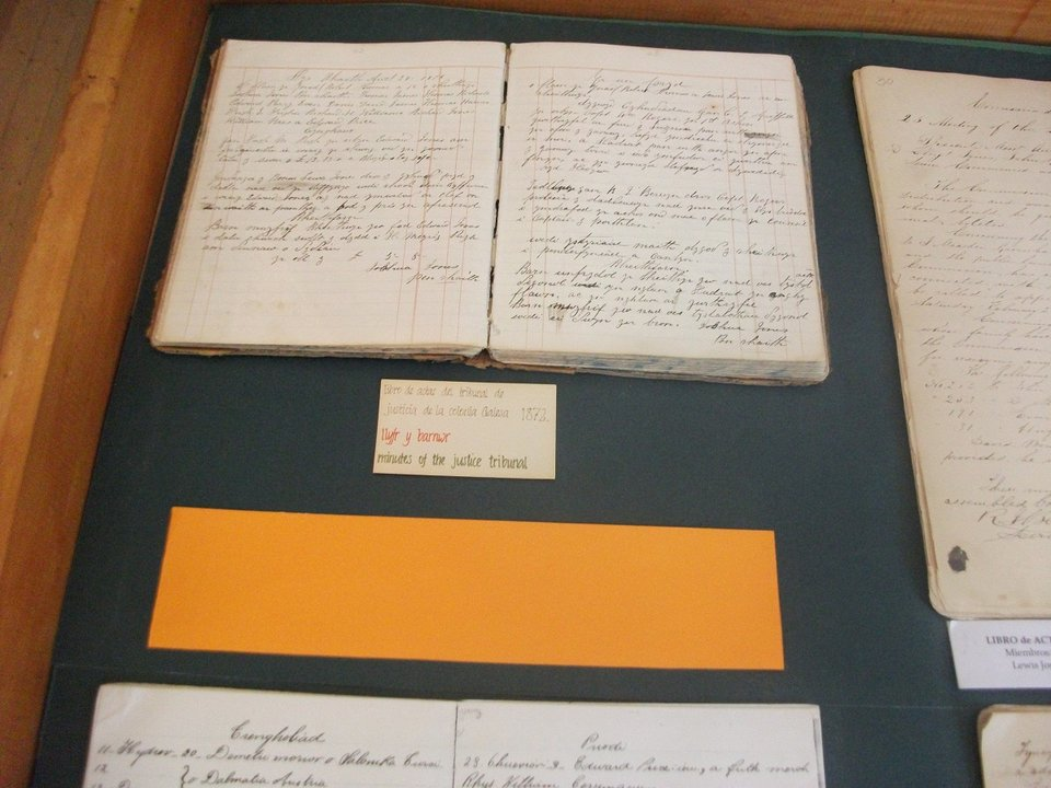 En el Museo de Gaiman se encuentra el libro de actas original que guarda la historia galesa de los juicios por jurado.