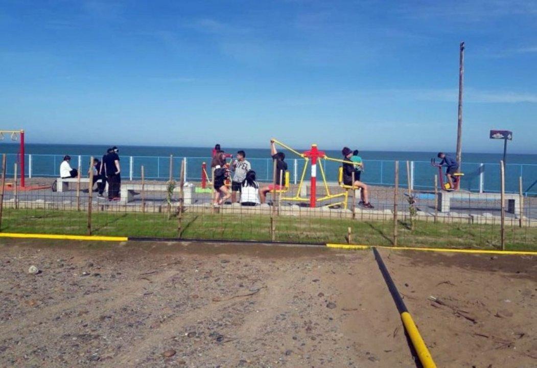 Así luce la costanera de Km 3. Foto: Diario Crónica