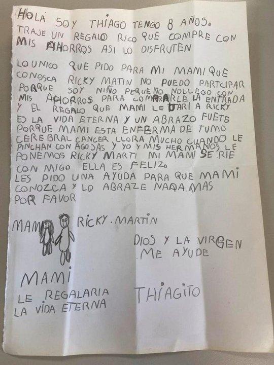 La carta de Thiago que conmovió a todos en Córdoba