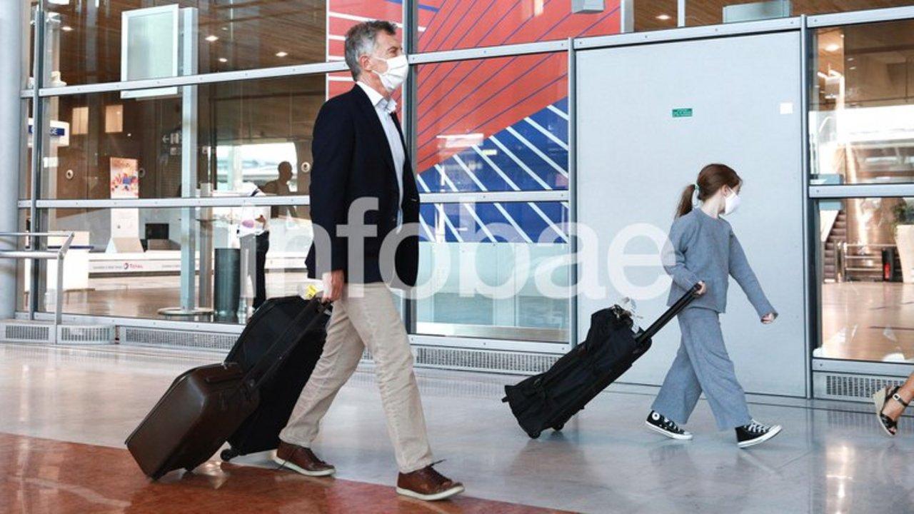Macri y su hija Antonia.