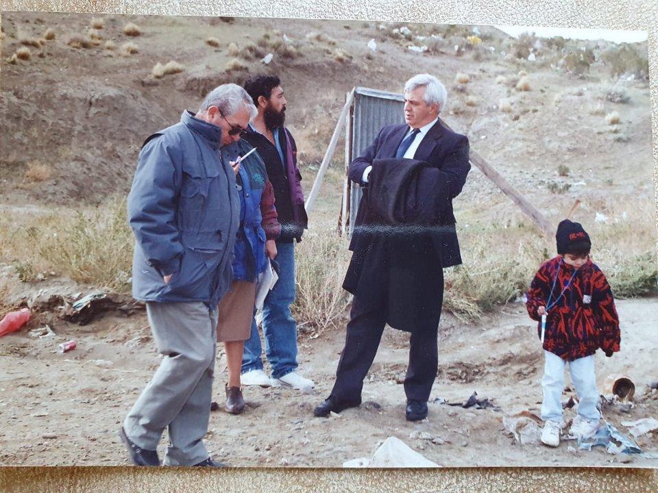 Juan Manuel en los inicios de su gran proyecto, cuando el Cordón Forestal era solo un sueño.