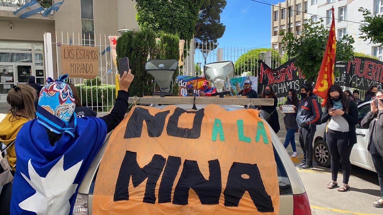 Este martes se manifestaron en la Municipalidad de Comodoro. Foto: ADNSUR