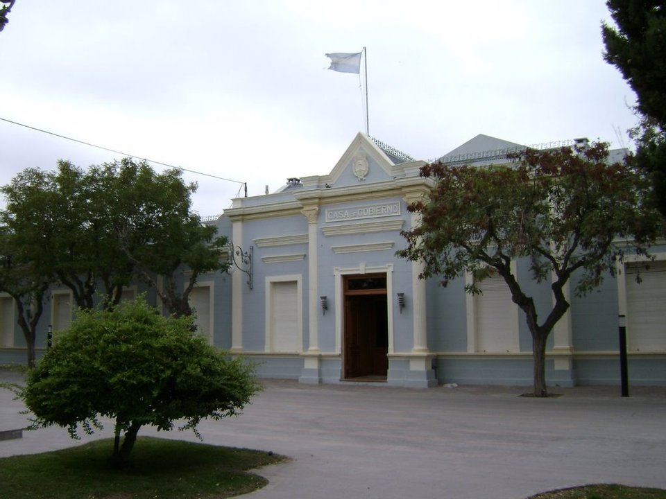 Casa de Gobierno, en Rawson.