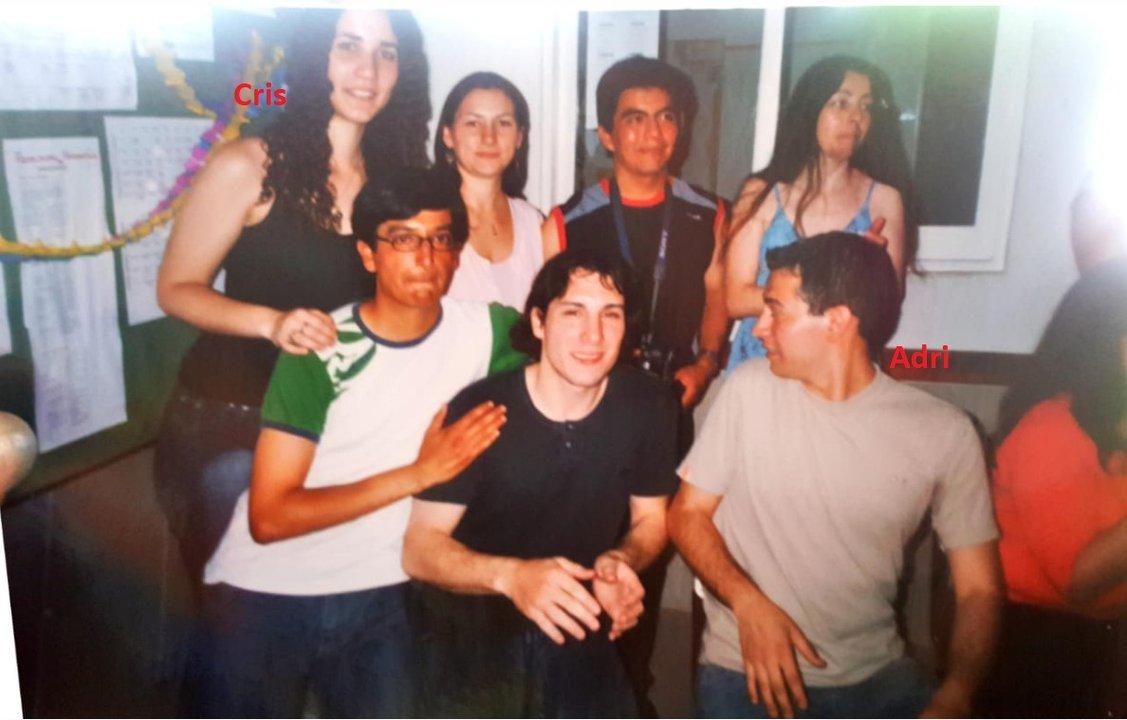 Adrián y Cristina en tiempos del profesorado.