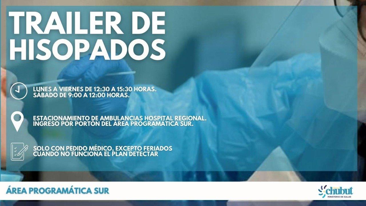 Los hisopados se realizan únicamente con pedido médico.